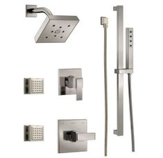View the Delta DSS-Ara-1403 Monitor 14 Series Single Function Pressure Balanced Shower System with Shower Head, 2 Body Sprays and Hand Shower - Includes Rough-In Valves at Build.com.