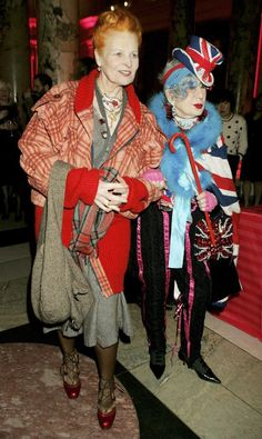two true style icons: Vivienne Westwood + Anna Piaggi