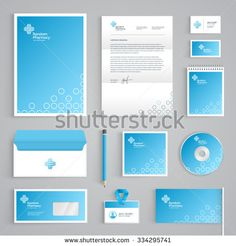 Abstract Pharmacy vector stationery design on light green background. Business documentation Source by thecrazed - Corporate Design, Corporate Branding, Brand Identity Design, Identity Branding, Medical Office Design, Pharmacy Design, Healthcare Design, Letterhead Design, Stationery Design