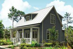 Cottage Style House Plan - 3 Beds 2.5 Baths 1687 Sq/Ft Plan #443-11 Front Elevation - Houseplans.com
