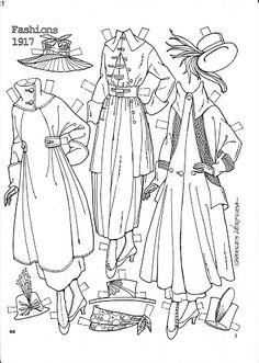 Pattern Book Fashions 1917 Paper Dolls by Charles Ventura - Nena bonecas de papel - Picasa Web Albums