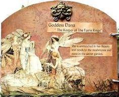 Goddess Dana collage art