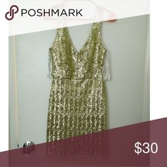 Gold sequin dress Gold sequin party dress. Low back, low front. Size 4.   It would looks great on someone with bigger breasts. Perfect for new years eve. Bisou Bisou Dresses Mini