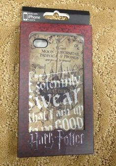 Harry Potter Solomnly Swear That I Am Up To No Good Iphone 4/4S Case New In Box!
