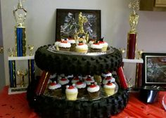 Ideas for monster truck birthday party food dirt bikes Bike Birthday Parties, Dirt Bike Birthday, Monster Truck Birthday, Grad Parties, Motorcycle Birthday, Dirt Bike Party, Motorcycle Party, Motocross, Party On Garth