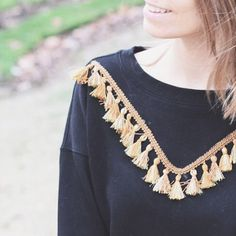 Un sweat customisé - diy sweater