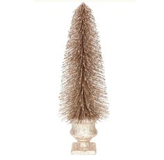 16-in Bottle Brush Gold Tree - At Home