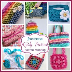 12 Free Crochet Patterns for Girly Purses and Bags