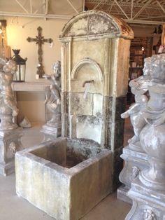 French Stone Wall Fountain www.architecturalheritage.com