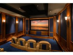 A royal blue home cinema. Portola Valley, CA Coldwell Banker Residential Brokerage $13,000,000