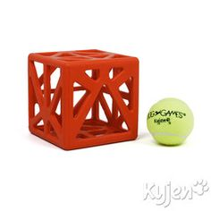 Cagey Cube - Tennis Ball Dog Puzzle Game - Found on ActiveDogToys.com