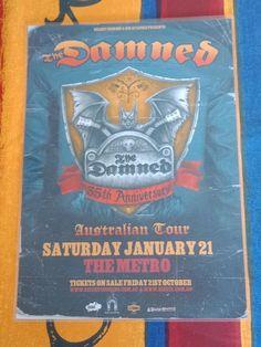 THE DAMNED - 2012 Australia Tour - SYDNEY - Laminated Promo Tour Poster. | eBay Australia Tours, Tour Posters, Sydney, Ebay