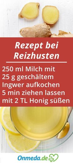 Irritating cough: home remedies & medications for relief - Reizhusten: Hausmittel & Medikamente zur Linderung Cough? Try our recipe – we wish you a speedy recovery! Matcha Benefits, Coconut Health Benefits, Herbal Remedies, Home Remedies, Health And Nutrition, Health Fitness, Fitness Diet, Health Care, Home Remedy For Cough
