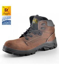 Chaussures de sécurité en cuir sans lacets
