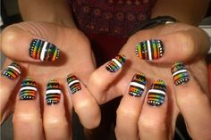 Crazy Beautiful Nails For more stuff visit :- http://naildesignsidea.net/crazy-nail-designs/