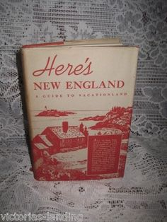 1939 FIRST EDITION WPA Here's NEW ENGLAND A Guide to Vacationland w/Large MAP HB