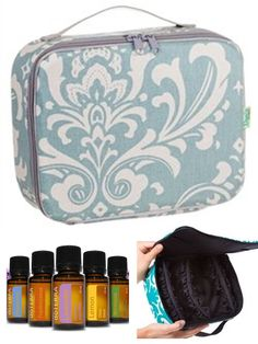 Wow, this is such a pretty case for essential oils.  Love the size, patterns, and colors! So fun! Holds 30 bottles. Click image to check out all the colors and find out where to buy it
