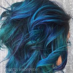"10.8k Likes, 36 Comments - Vegan + Cruelty-Free Color (@arcticfoxhaircolor) on Instagram: ""We are a little obsessed with these blue and turquoise locks! @hairbyleslierene Get this stunning…"""
