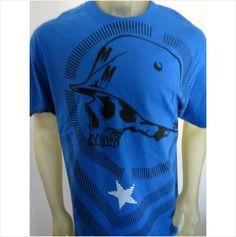 NWT Metal Mulisha Moto-X racing blue tee shirt men's size LARGE