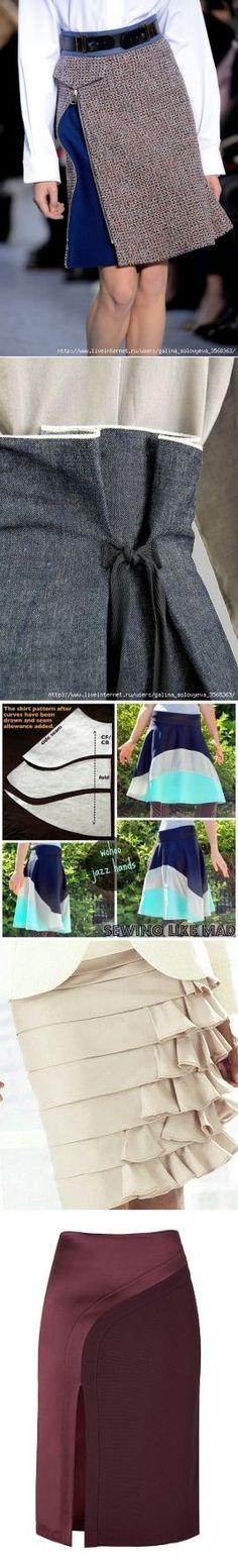В копилку портнихе: моделирование юбок.