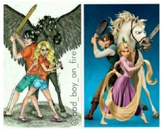 Percy Jackson and tangled