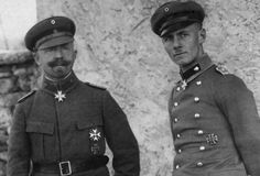 "guns-gas-trenches: ""Theodor Sproesser and Erwin Rommel Major Sproesser was Rommel's commanding officer in Italy during WWI. He received his Pour Le Merite with Rommel for their daring and unrelenting pursuit of the Italians. He (Sproesser) was..."