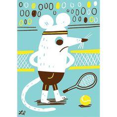 Wimbledon't. #mouse #illustration #wimbledon #tennis (c) Linzie Hunter