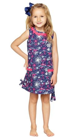 Lilly Pulitzer Little Lilly Classic Shift Dress in Sparks Fly Glow