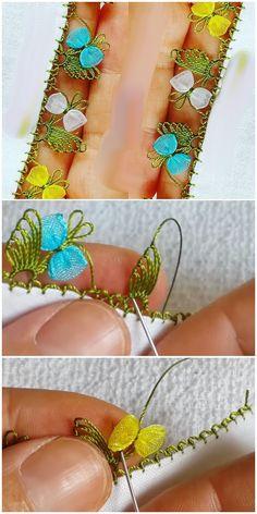 İmrenerek Takip Edilen İğne Oyası Modellerinden Fiyonklu Oya - See PicThis Pin was discovered by Fat Crochet Stitches, Embroidery Stitches, Embroidery Patterns, Hand Embroidery, Knitting Patterns, Sewing Patterns, Stitch Birthday, Irish Crochet, Knit Crochet