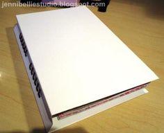 Jennibellie Studio make own smash book tutorial :)