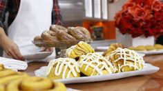 Use pumpkin puree to make these unbelievable pumpkin cinnamon buns from scratch, with this recipe from Gesine Bullock-Prado. Baked In Vermont, Gesine Bullock, Icing Ingredients, Cream Cheese Eggs, Thing 1, Pumpkin Puree, Recipe Of The Day, Pumpkin Recipes, Sweet Tooth