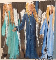 A personal favorite from my Etsy shop https://www.etsy.com/listing/555732562/angel-painting-praise-guardian-angel