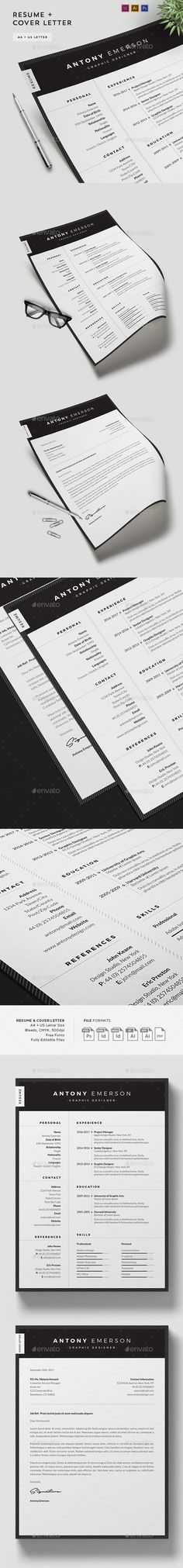 Resume/CV Template  — PSD Template #professional #black • Download ➝ https://graphicriver.net/item/resumecv-template/18376268?ref=pxcr
