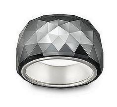 c1bf4df3f Nirvana Petite Ring in Black Jet Hematite A stunning, brilliant ring in Swarovski's  Nirvana ring