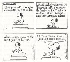 I can relate, Snoopy!