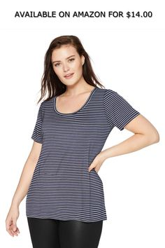 61cef1bc7 Daily Ritual Women's Plus Size Jersey Short-Sleeve Scoop Neck Shirt ◇  AVAILABLE ON AMAZON