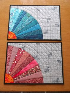Splendid Color Quilted Placemats Set of 4