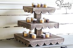 Check out this easy tutorial to build your own DIY Cupcake Stand! It's perfect for holiday entertaining and great year round!