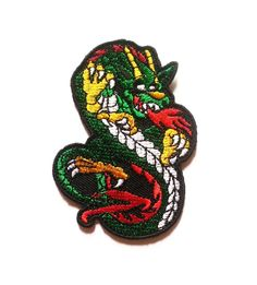 Chinese Dragon Animal Cartoon Iron on Patch Embroidered Racing DIY T-shirt Jacket *** Visit the image link more details.