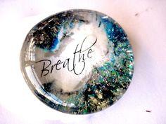 Breathe Art Pendant, Necklace,  glass Gem, handmade pendant, glass pendant, wedding keepsake souvenirs,
