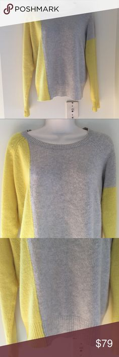 NWT 360 CASHMERE 100% Cashmere Sweater, M Beautiful 360CASHMERE colorblock sweater!  - Originally $288 - Size M - Purchased from Intermix  All items in my closet belong to me personally and are from a smoke and pet free home. 360 Cashmere Sweaters Crew & Scoop Necks