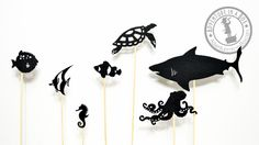 FREE JPG templates This set includes ten uniquely designed shadow puppetsof sea animals. Read below for more details. Education sea creatures environment marine life habitats creative writing light etc