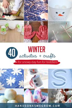 If you're looking for some winter crafts and activities for toddlers, then this is the spot! Crafts, sensory, learning, and some good ol' fun activities for toddlers to do at home this winter. Toddler Fun, Toddler Preschool, Toddler Crafts, Winter Activities For Toddlers, Toddler Activities, Motor Activities, Creative Activities, Winter Fun, Winter Theme