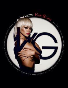 Rihanna's Viva Glam MAC lipstick ad campaign