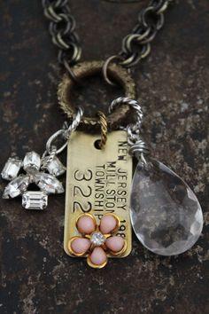 Vintage Dog Tag Necklace by BelleVia on Etsy, $48.00