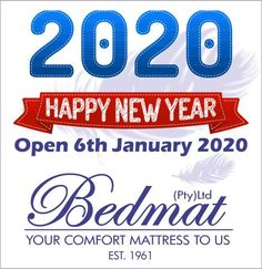 Let us look back at the past year with the warmest of memories. Happy New Year from Bedmat to YOU.  Just a friendly reminder that we will be opening 6 January, visit our online shop to view our amazing products  #bedmat #newyear #newme