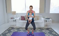 Exercícios para glúteos e coxas para fazer com o bebê   Revista Pais & Filhos