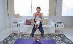 Exercícios para glúteos e coxas para fazer com o bebê | Revista Pais & Filhos