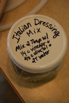 Italian Dressing Mix and ranch dressing,too