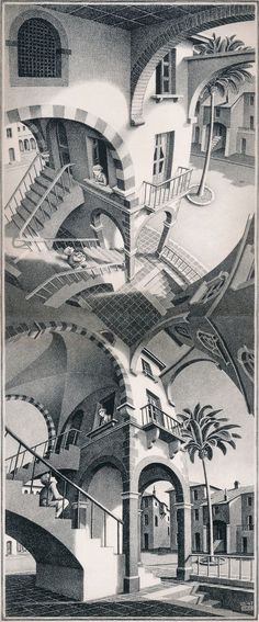 M.C. Escher: Up and Down, 1947